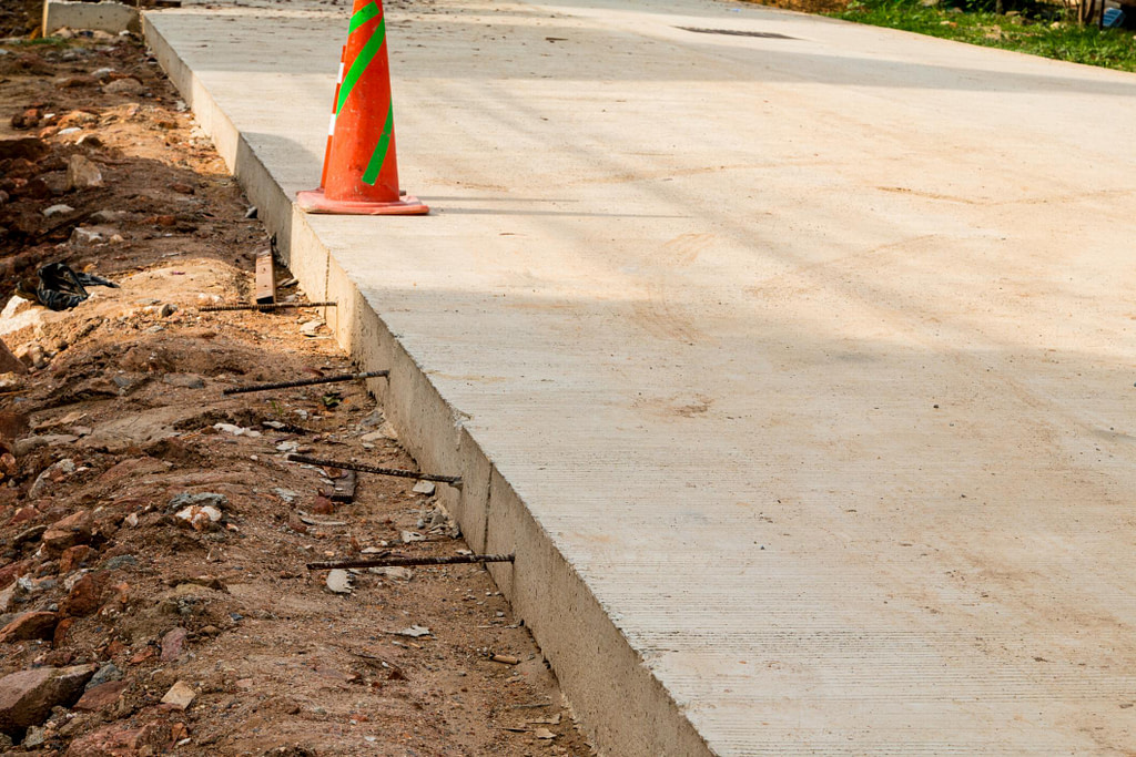 construction cone in the road