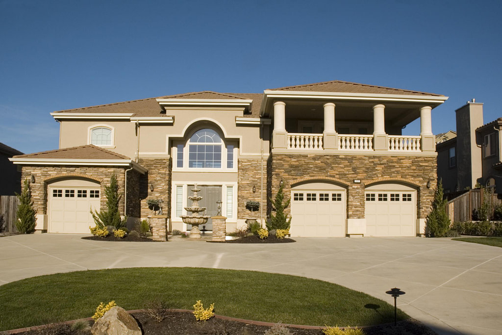 big house with driveway